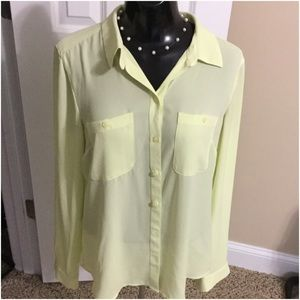 Pale yellow Loft utility shirt
